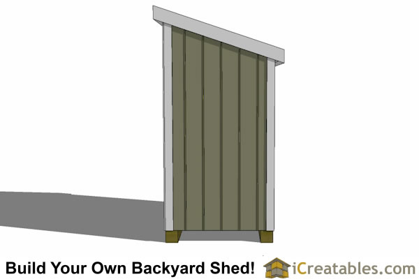 4x6 Lean To Shed Plans Left End