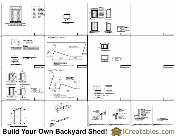 4x6 Lean To Shed Plans Example