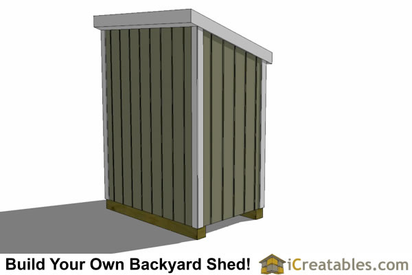 3x6 lean to shed rear