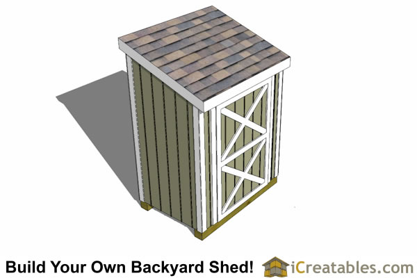 3x6 lean to shed top