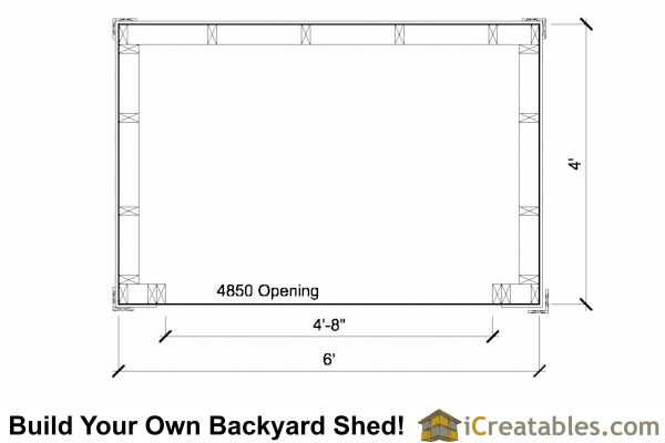 4x6 firewood shed plans floor plan