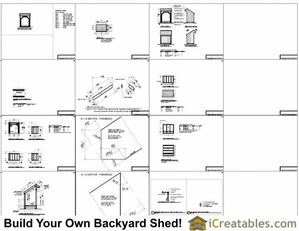 4x6 firewood shed plans