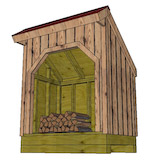 4x6 firewood shed partition