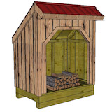4x6 firewood shed front
