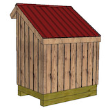 4x6 firewood shed rear