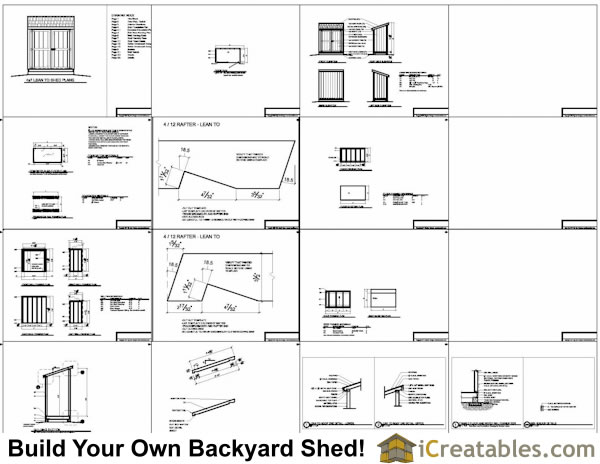4x7 shed plans