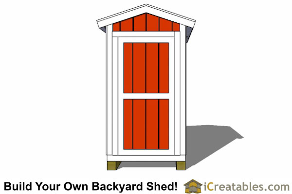 8x8 shed plans elevation