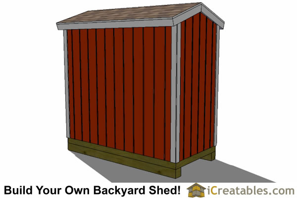 4x8 backyard shed plans right rear
