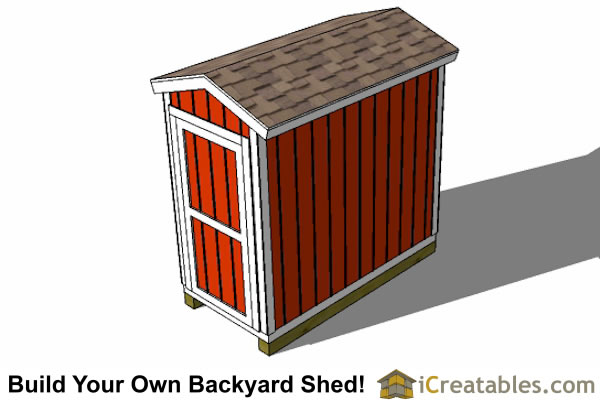 4x8 Backyard Shed Plans Left Rear 4x8 Backyard Shed Plans Top ...