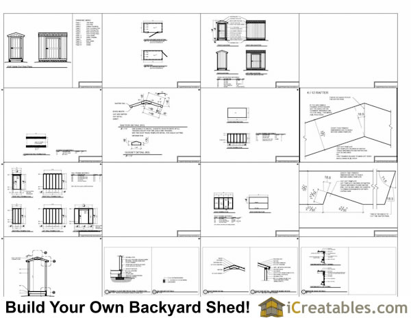 4x8 Gable Shed Plans Example