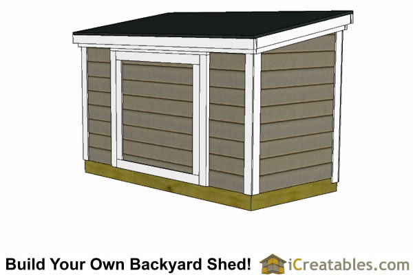 4x8  lean to backyard shed against fence