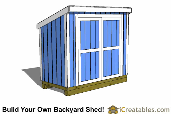 4x10 lean to shed with short walls  sc 1 st  iCreatables & 4x10 Shed Plans | 4x10 Storage Shed Plans | Icreatables.com