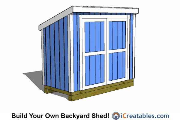 4x8 lean to shed with 8' or less height