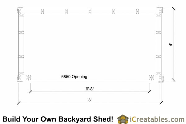 4x8 firewood shed plans floor plan