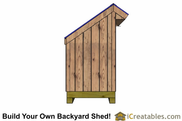 4x8 firewood shed left side