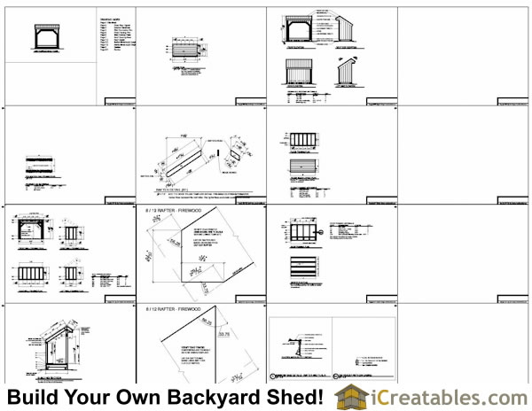 4x8 firewood shed plans example