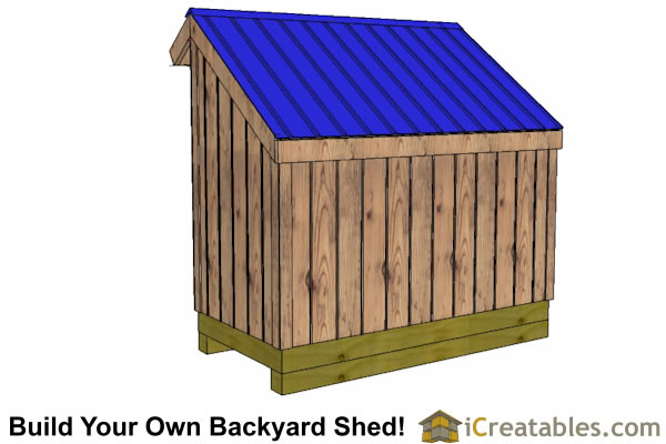 4x10 firewood shed rear