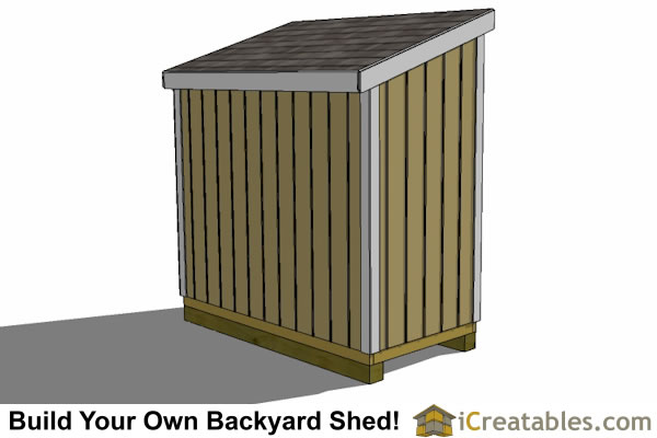 Outdoor/Garden Shed Plans - 4x8 Lean-to Shed with High Side Door