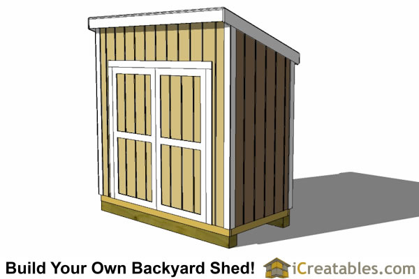 4x8 Lean To Shed Plans With Doors On High Side