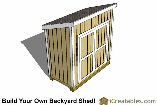4x8 lean to shed top