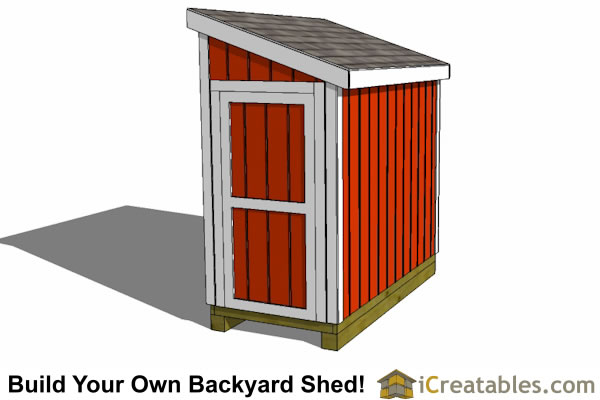 4x8 lean to shed plans build your own shed icreatables for Lean to plans free