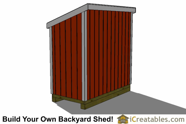 4x8 lean to shed with door on end plans free
