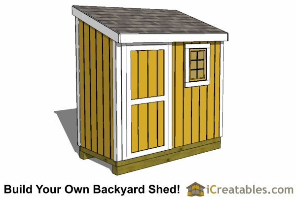 4x8 Lean To Shed With Window Plans
