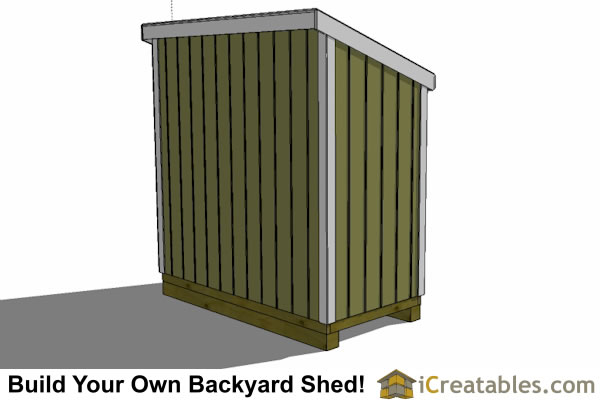 4x7 lean to shed rear