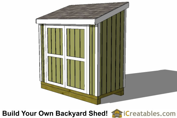 Shed Door Building Plans. 4x8 Lean To Shed Front