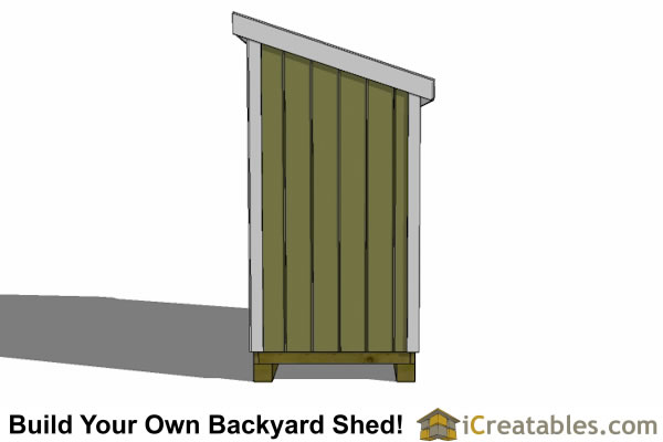 4x7 lean to shed end