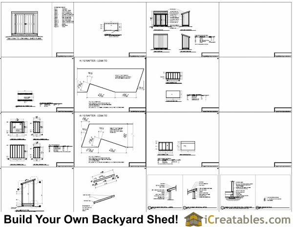 4x8 lean to shed plans example