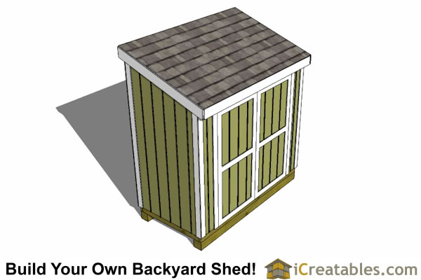 4x7 lean to storage shed top