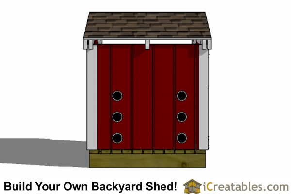 generator shed plans rear