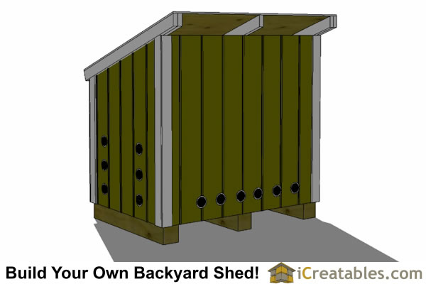 generator shed plans with lean to roof  rear