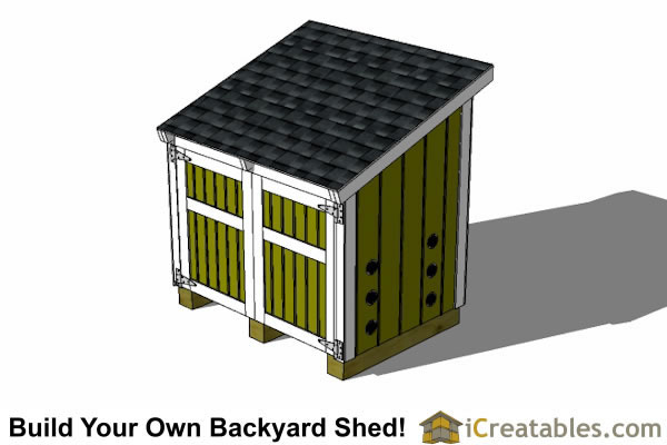 generator shed plans with lean to roof
