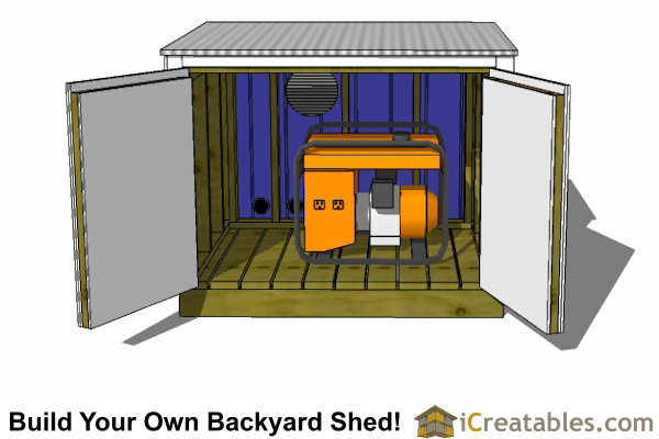 small generator enclosure plans