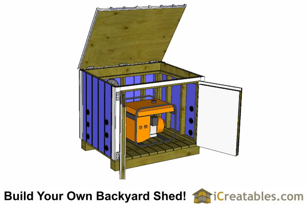 generator shed plans