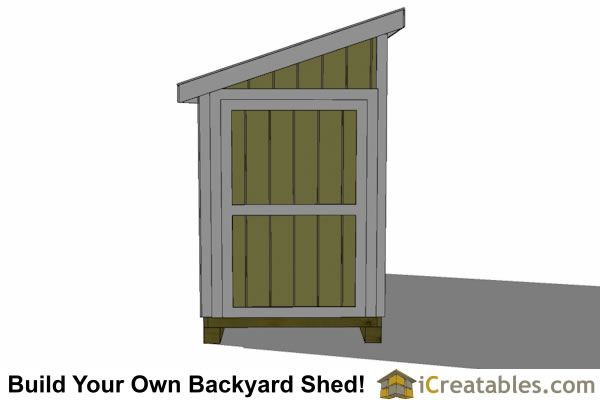 5x12 lean to shed with door on end