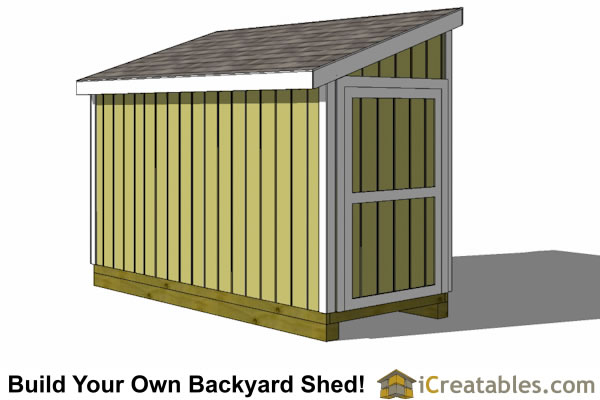 5x12 Lean To Shed Plans Icreatables Sheds