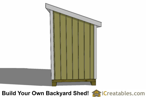 5x12 lean to shed plans right side