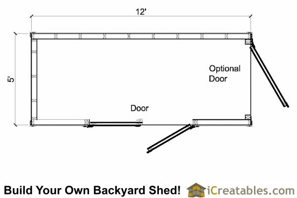 5x12 lean to shed plans floor plan