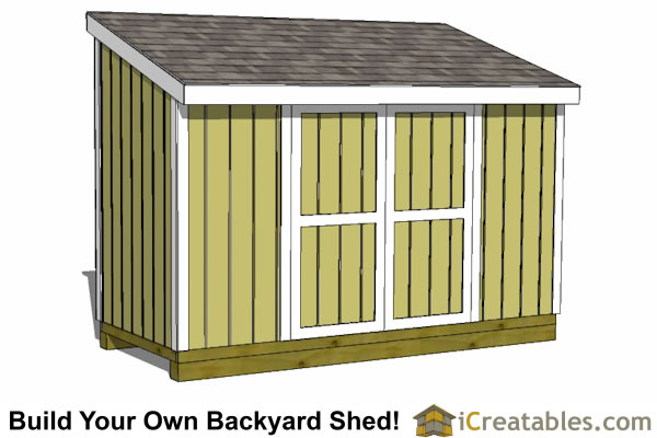 5x12 lean to shed plan