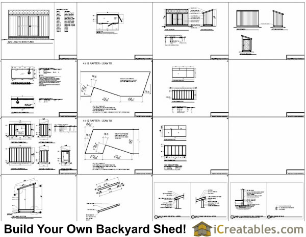 5x12 lean to shed plans example