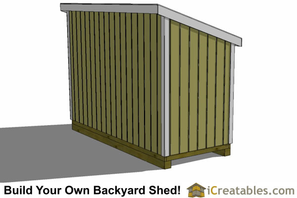 5x12 lean to shed plans left side