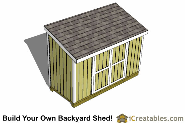 5x12 lean to shed plans top