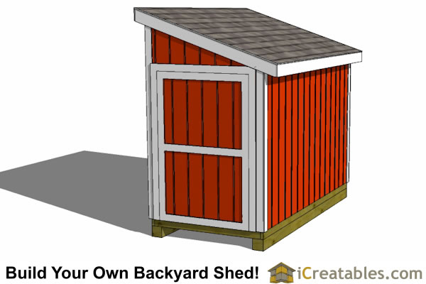 5x10 lean to shed plans end door