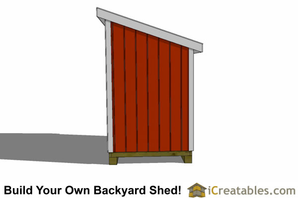 5x10 lean to shed design end elevation
