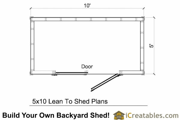 5x10 lean to shed plans lean to shed plans to build from for 10 x 8 shed floor plans