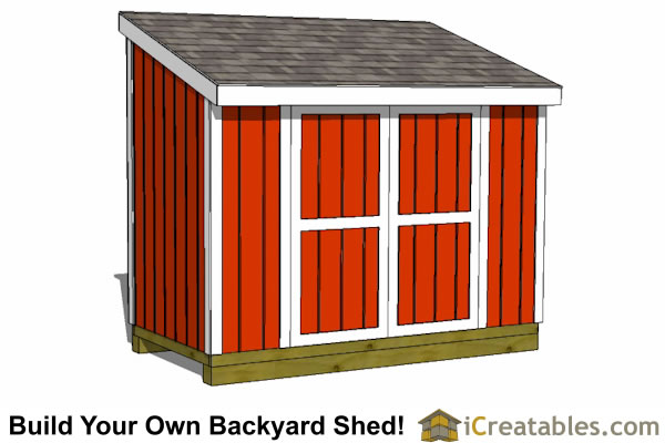 5x10 LT Lean To Shed Plans on saltbox shed