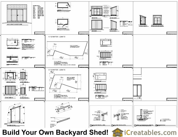 5x8 lean to shed plans